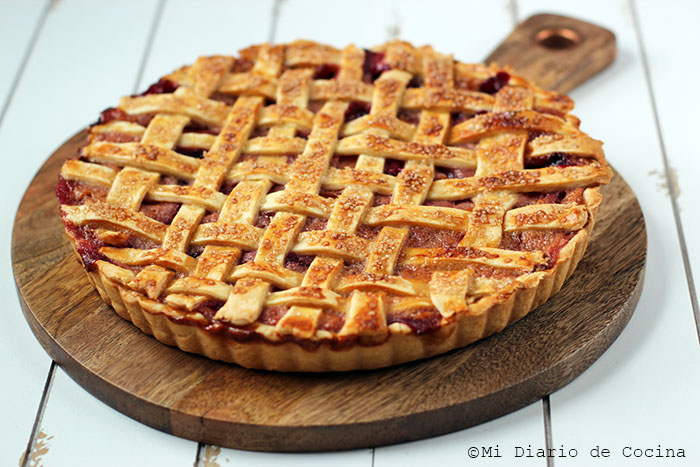German-Style Plum and Peach Pie