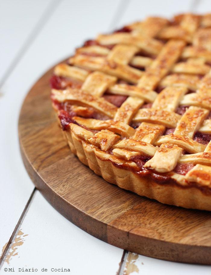 Kuchen de ciruelas y duraznos