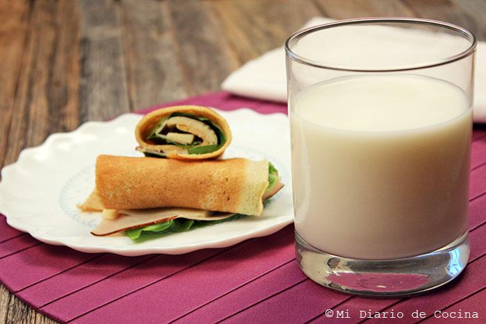 Panqueques integrales con leche