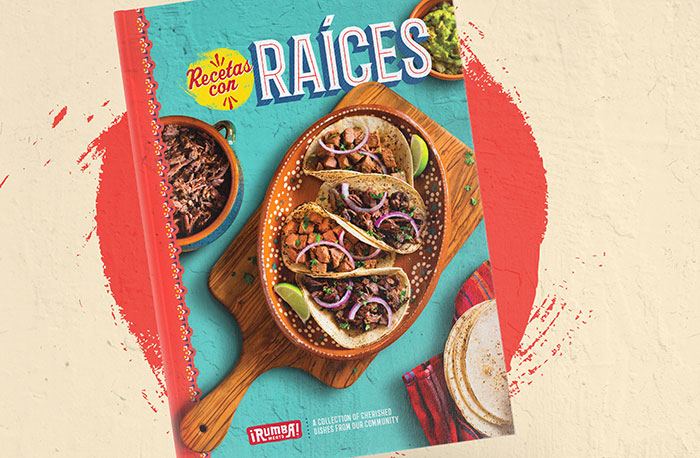 "Book ""Recetas con Raíces"" (""Recipes with Roots""), from Rumba Meats"