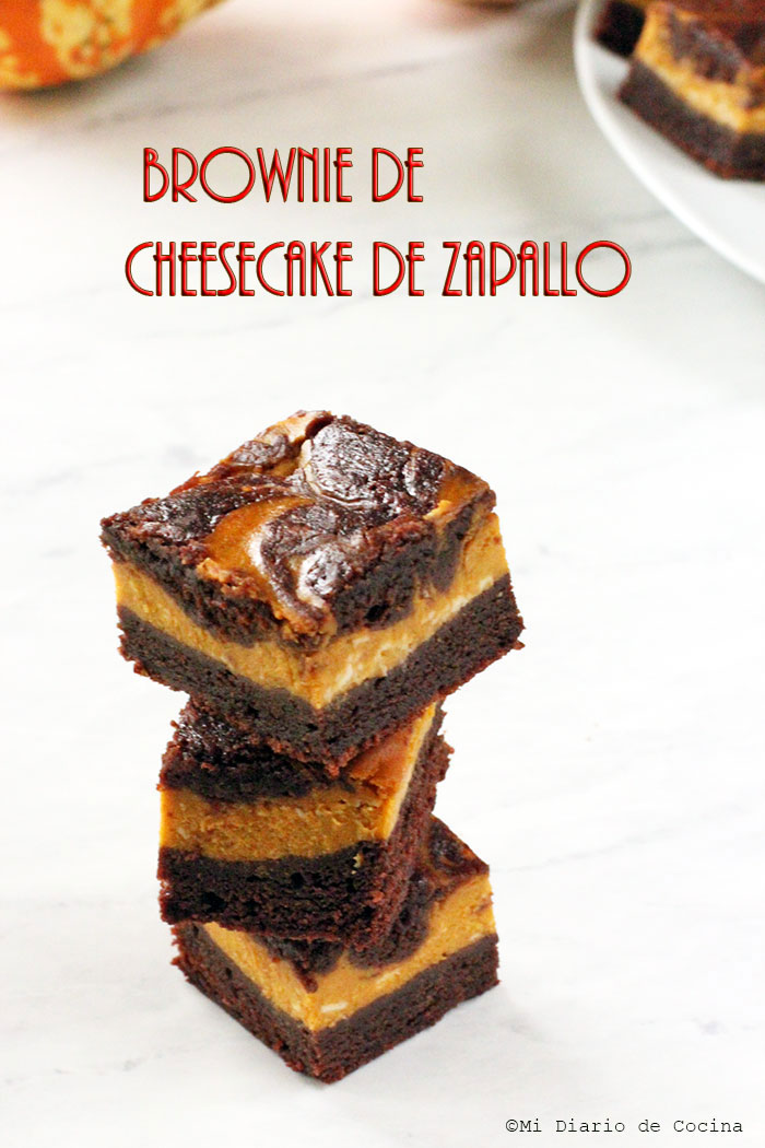Brownie de cheesecake de zapallo