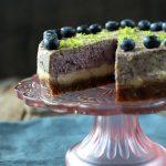 Cheesecake de arándanos vegano
