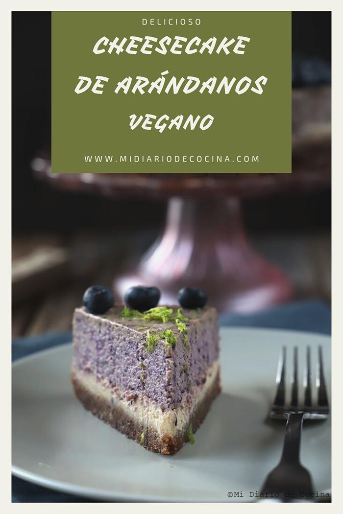 cheesecake de arandanos vegano