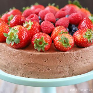 Torta de chocolate y berries