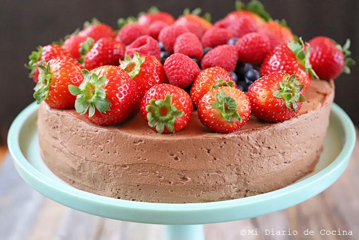 Torta de chocolate y berries
