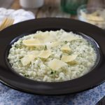 Beef broth risotto
