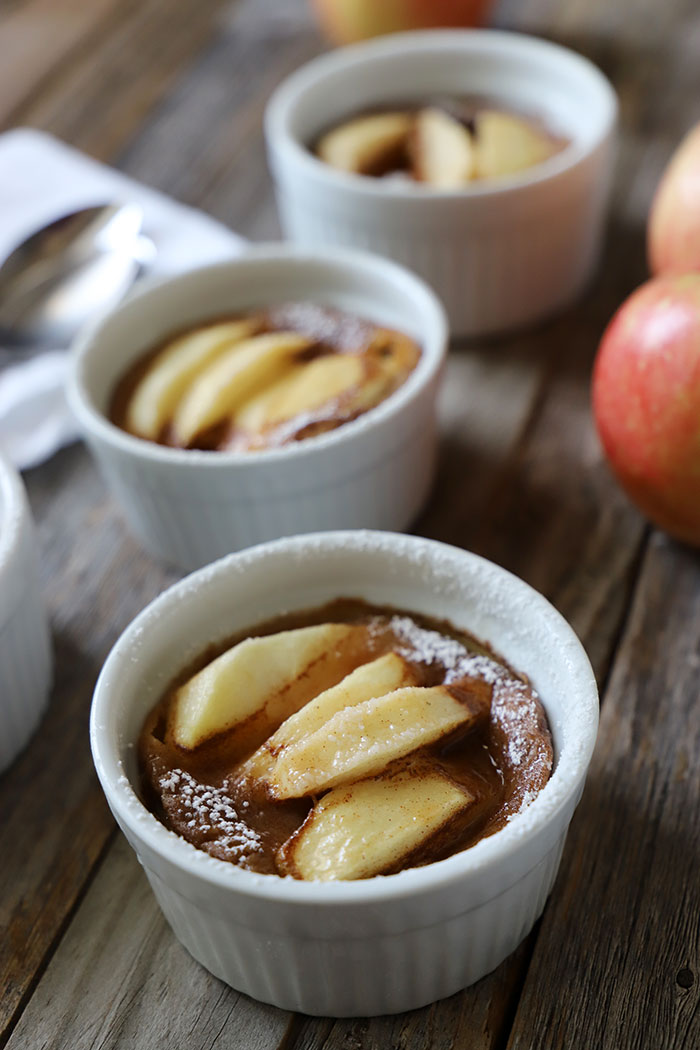 Dessert of apples and cinnamon