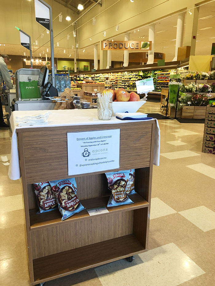 Sample stand at Publix