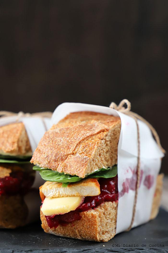 Sandwich de pavo