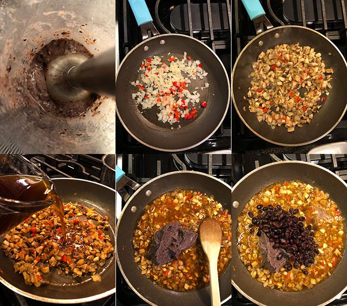 Sopa de porotos negros (frijoles)