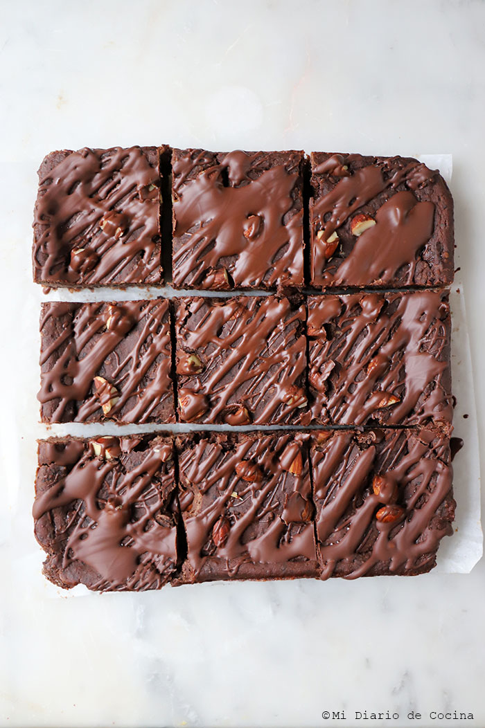 Brownie de porotos negros (frijoles)