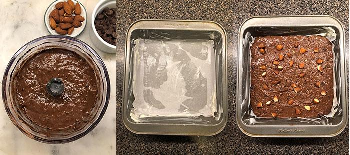 Brownie de porotos negros (frijoles) - Preparación