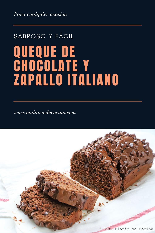 Queque de chocolate y zapallo italiano