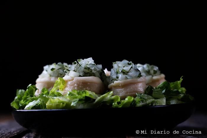 Locos con salsa verde