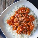 Pollo con salsa de naranja