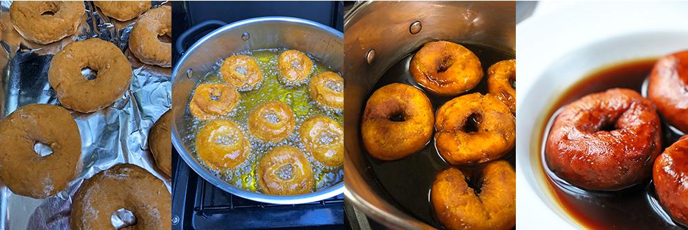 Picarones con salsa de chancaca