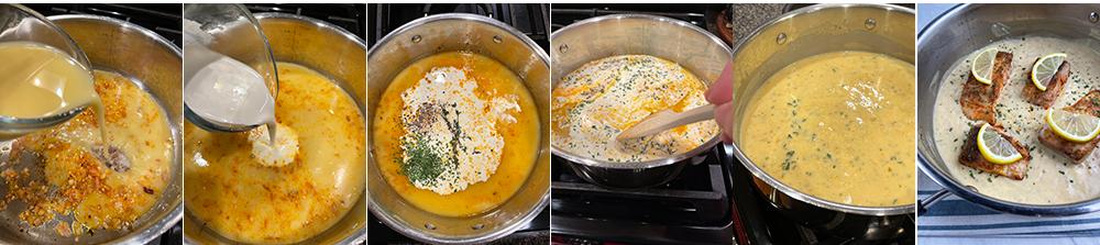 Mahi mahi with lemon sauce