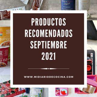 Productos recomendados septiembre 2021