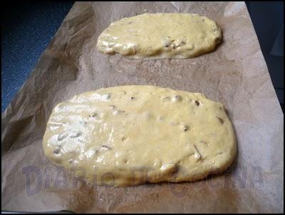 Biscotti de limón y almendras - Preparación
