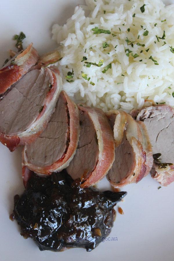 Lomo de cerdo y Chutney de ciruela